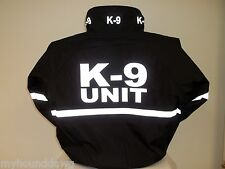 Reflective K-9 Jacket with Reflective Striping, All Weather K-9 Unit Jacket,,,SM