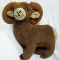 """VINTAGE Dakin PILLOWPETS LARGE BROWN BIGHORN SHEEP 18"""" Plush STUFFED ANIMAL Toy"""