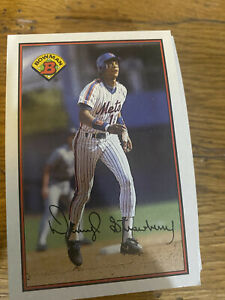 (50) 1989 Darryl Strawberry #387 New York Mets NR-MT+ Reduced Multiple Shipping