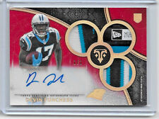 2015 TRIPLE THREADS DEVIN FUNCHESS ROOKIE AUTO TRIPLE PATCH TAG LOGO 1/1 RAINBOW