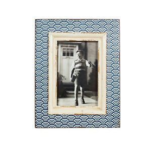 SASS AND BELLE BLUE WAVE PHOTO FRAME 6X4