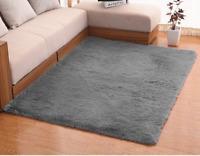 Luxury Velvet Living Room Carpet Bedroom Rugs, Fluffy, Super Soft Cozy