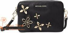 MICHAEL Michael Kors Flowers Pouches Medium Camera Bag Cross Body, Black