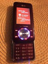 LG Chocolate VX8550 Burgundy Bluetooth Slider Cell Phone Great Condition