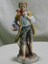 Porcelain Bisque Figurine 'Georgian Styled - Young Man Picking Grapes' Foreign