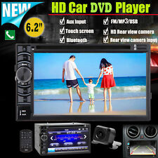 Touch Screen Stereo Car DVD CD 2 Din A5 System HD Radio 6.2inch Player w/ Camera