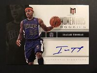 Isaiah Thomas Kings Celtics Signed 2013 Panini Rookie Auto Autograph Card #77