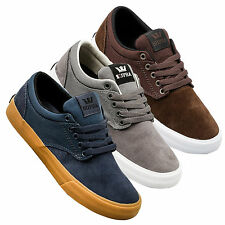 Supra Mens Chino Lace Up Active Gym Sport Lo Top Navy Brown Grey Trainer