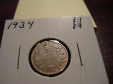 1934 - Canada - 10 cent - Canadian Silver dime