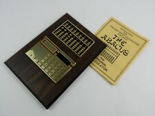 Vintage NOS Abacus & Solar Powered Calculator East West Calculator New