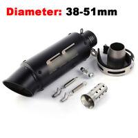 38-51mm Universal Motorcycle Dirt Bike Black Exhaust Muffler Pipe with DB Killer
