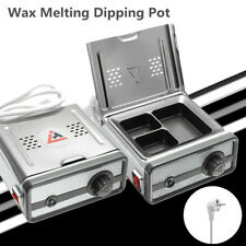 Dentist Dental 3 Well Analog Wax Melting Dipping Pot Heater Melter Lab