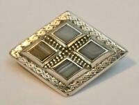 Antique Vintage  Silver Scottish Agate Victorian Brooch.