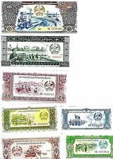 Laos Special Set Of 7 Different Banknotes Uncirculated,Mint