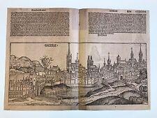 Stadtansicht Breslau, Schedel Weltchronik, Breslau, Schlesien, Chronicle