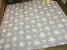 BATES ? Square Dancing Theme Vintage 100% cotton blanket COVERLET SPREAD THROW