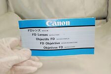 Canon FD Lenses Instructions System Guide Booklet 1970's  7212080