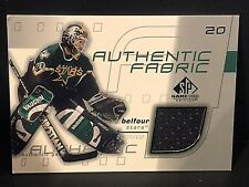 ED BELFOUR  2001-02 Upper Deck SP Game Used JERSEY Authentic Fabric #AF-EB Stars