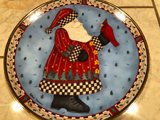 Franklin Mint Christmas Greeting Plate by Debbie Mumm