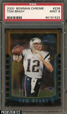 "2000 Bowman Chrome #236 Tom Brady RC Rookie PSA 9 MINT "" GREAT INVESTMENT """