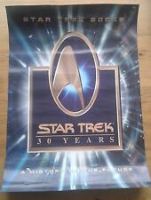 Star Trek 30 Years Books and Audio double sided poster 16.5 x 23.5 inches