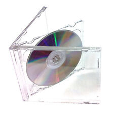 50 x Double Plastic CD 10mm Jewel Case Cases 2 Way Clear Tray HIGH QUALITY