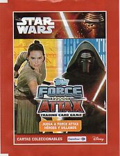 STAR WARS - EXCLUSSIVE SPANISH TOPPS FORCE ATTAX TRADING CARDS ENVELOPE - NEW