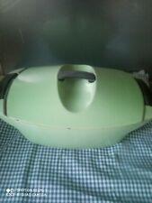 COCOTTE LE CREUSET RAYMOND LOEWY couleur vert pistache 1960 VINTAGE 4.5  LITRES