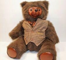"Robert Raikes Bears jointed Sebastian Plaid Vest 1985 First set 22"" # 2250/7500"