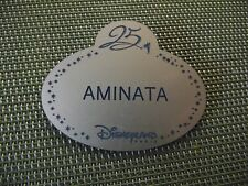 NAME TAG CAST MEMBER MEMBERS DISNEYLAND PARIS / 25 ANS / AMANITA