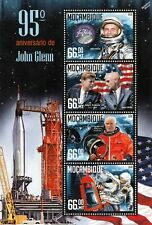 Senator JOHN GLENN NASA Astronaut Space Stamp Sheet (2016 Mozambique)