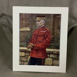 1900 Antique Military Portrait Print Frederick Forestier Walker British Army