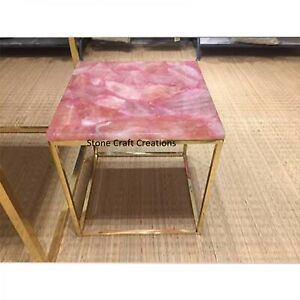 Agate Table Top, Agate Table, Stone Dining Table, Pink Agate Console Table, Pink