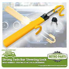 Heavy Duty Steering Wheel Lock for Toyota. Twin Bar High Security Hi-Vis