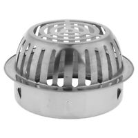 Roof Drain Dome Outdoor Anti Blocking Strainer Stainless Steel Filter, 4Size