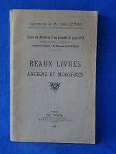 BIBLIOTHEQUE Léon COMAR BEAUX LIVRES ANCIENS ET MODERNES CATALOGUE 1933