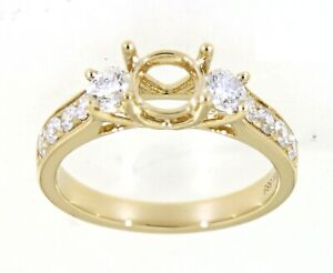 0.72 Carat Real Natural Diamond Semi Mount Ring Anniversary Gift Jewelry For Her