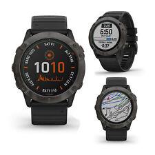 Garmin Fenix 6X Pro Solar Titanio Carbono Gris Negro Banda Smart GPS Sport Reloj