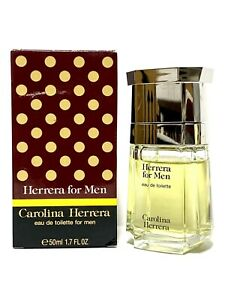 CAROLINA HERRERA for MEN 1.7oz/50ml EDT Splash VINTAGE FORMULA 90% LowFill (BN09