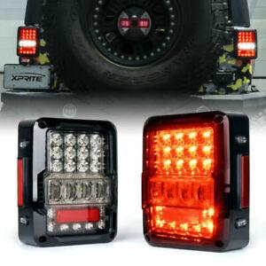 Xprite 2X LED Tail Lights Brake Turn Signal Lamp for Jeep 07-18 Wrangler JK JKU