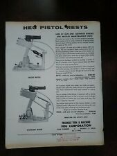 Vntg 1950s Heg Pistol Rests Triangle Sights Dealer Flyer