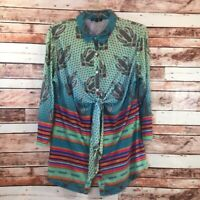 Women's Boho Chic long Sleeve top size XL mullti color and unique