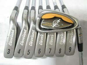 Used RH Cleveland CG Gold Iron Set 3-P Stiff Flex Steel Shafts