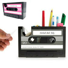 Pen Holder Cassette Tape Box Organizer Pen Container Storage with tape dispenser