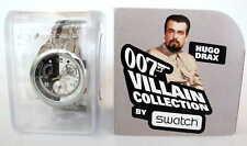 Swatch Watch 007 Villain Collection Hugo Drax Moonraker James Bond YRS410G NEW