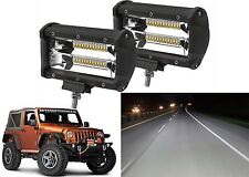 "PAIR 5"" 120W Cree LED Light Bar Driving Fog Lights Off Road 4x4 New Free Ship"