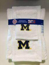 Michigan Wolverines University 3pc College Bath Towel Set by Northwest Co.
