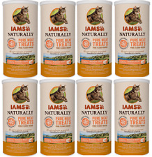 IAMS Naturally Cat Freeze Dried Salmon Fillet Pure Meat Treat 8x20g BBE 08.02.21