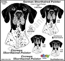 German Short-Haired Pointer Decal Stickers, 3.75 Inch, 4 Count Portrait