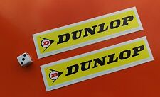 DUNLOP Racing Car Superbike Stickers  PAIR 150mm X 30MM 7-10 year vinyl